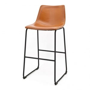 Bar Chair Low Logan Dark Brown 2