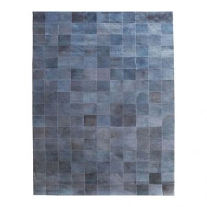 Carpet Patchwork Leather 160x230 Grey (6243)