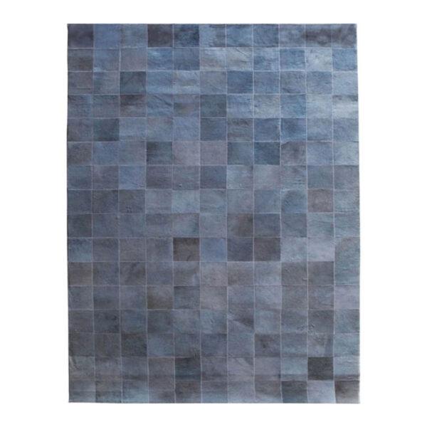 Carpet Patchwork Leather 160x230 Grey (6243)