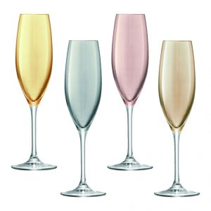 Champagne Flutes Polka Drinken 225 Metallic