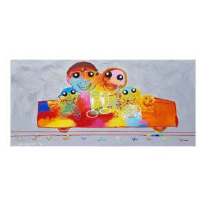Schilderij Canvas Bankstel 70x140
