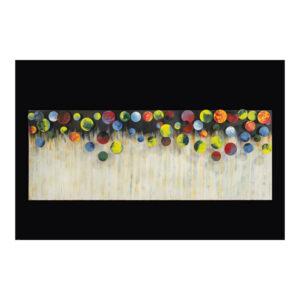 Schilderij Cirkels En Strepen Metaal 123x45
