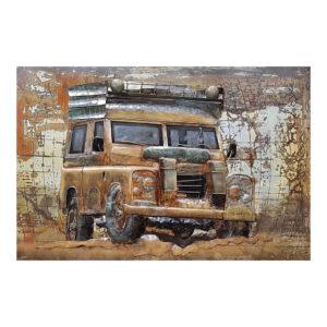 Schilderij Jeep Metaal 80x120
