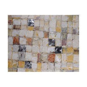 Schilderij Vierkantjes 100x100