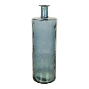 Vaas Glas Rond Cilinder Blauw Hoog 151-505-625