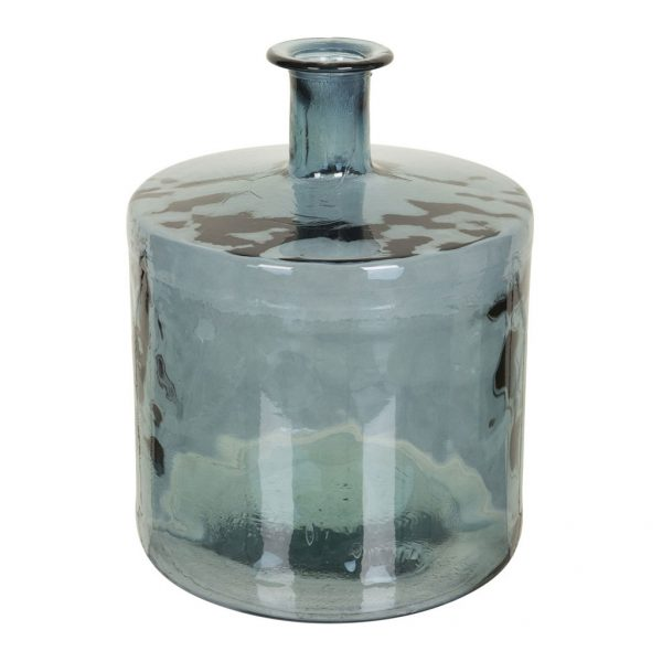 Vaas Glas Rond Cilinder Blauw Laag 151-505-626