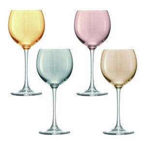 Wijnglazen Polka Drinken 400 Ml Metallic