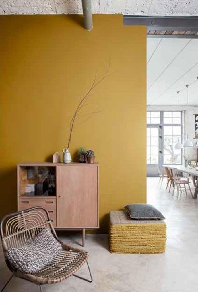 Oker Gele Wand