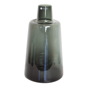 Vase Bottle Glass Smoked Middle810-515-112