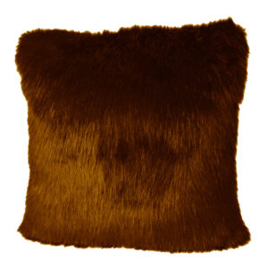 Cushion Cover Faux Brown255-630-004