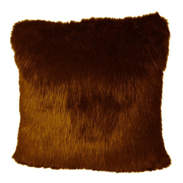 Cushion Cover Faux Brown255-630-004