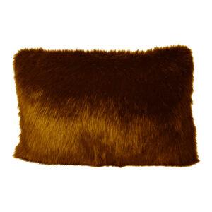 Cushion Cover Faux Fox Brown255-630-024